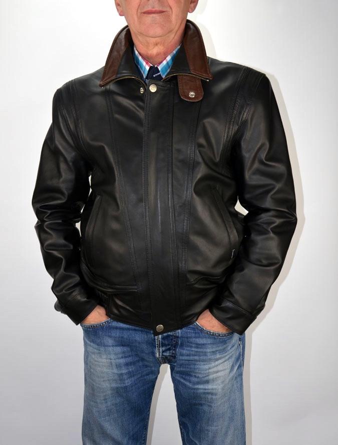 a29b02f5f8 BRUNO férfi bőrdzseki fekete-barna – Bőrkabát és bőrdzseki a gyártótól