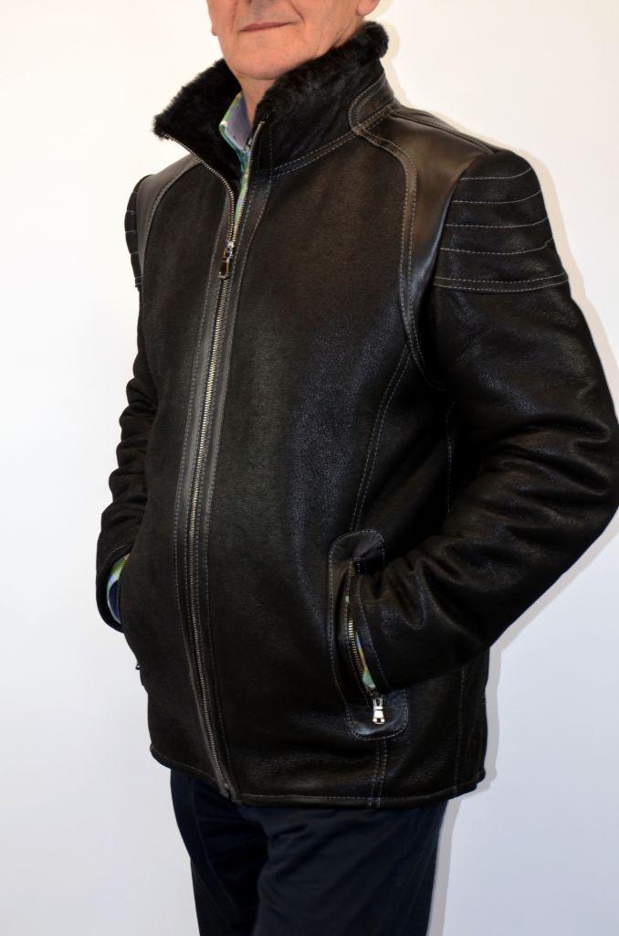 JOKER férfi irhadzseki fekete Bőrkabát boltBőrkabát bolt