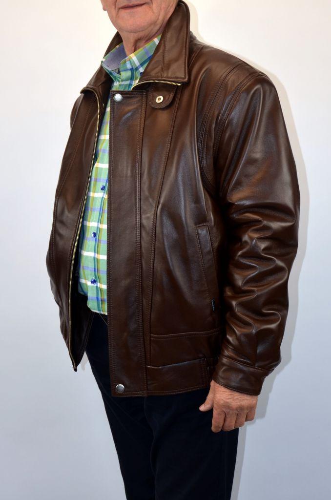 dcd04041e1 BRUNO férfi bőrdzseki barna – Bőrkabát és bőrdzseki a gyártótól
