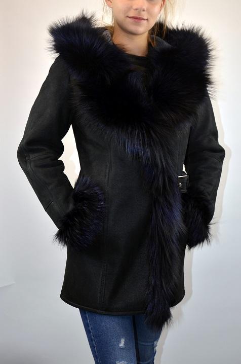 SOFIA női irhakabát fekete – Bőrkabát és bőrdzseki a gyártótól