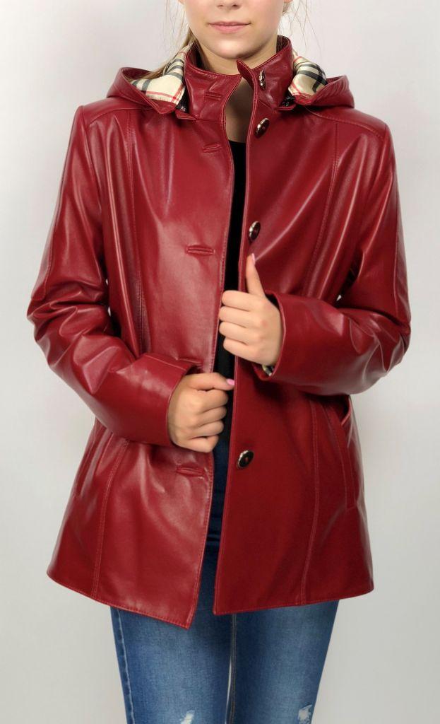 BÖRBI női piros bőrkabát 324c2c3db1