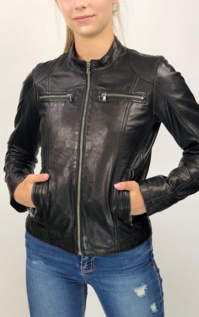 179a0d5375 MONO fekete rövid női bőrdzseki – Bőrkabát és bőrdzseki a gyártótól
