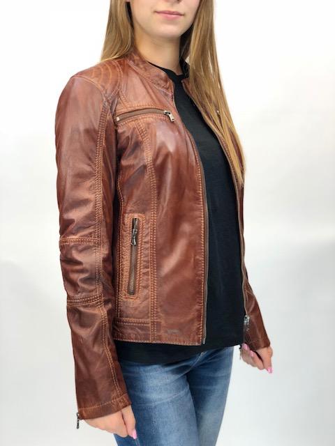 523b373f95 MONO barna rövid női bőrdzseki – Bőrkabát és bőrdzseki a gyártótól