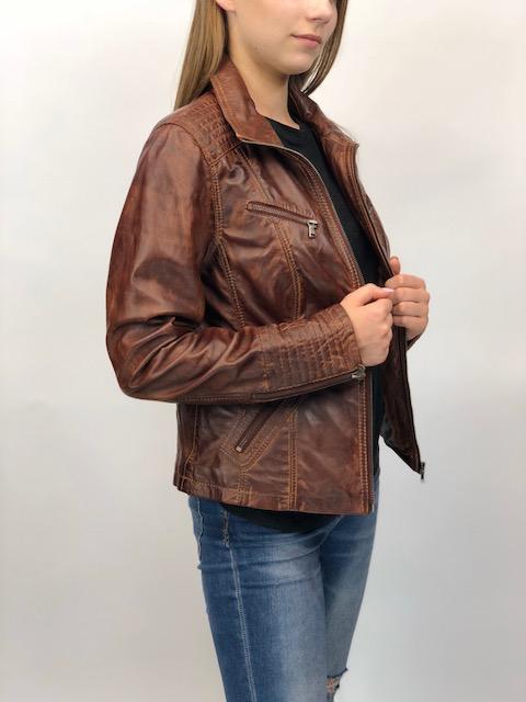 FELICE barna rövid női bőrdzseki – Bőrkabát és bőrdzseki a gyártótól aeb394987e