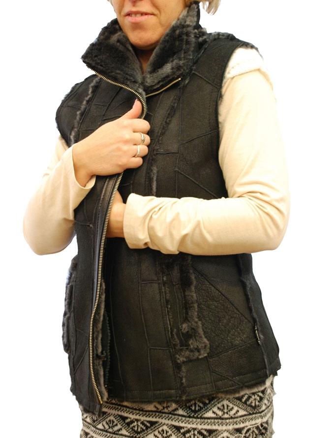 621d18c9e7 LENA női irha mellény – Bőrkabát és bőrdzseki a gyártótól