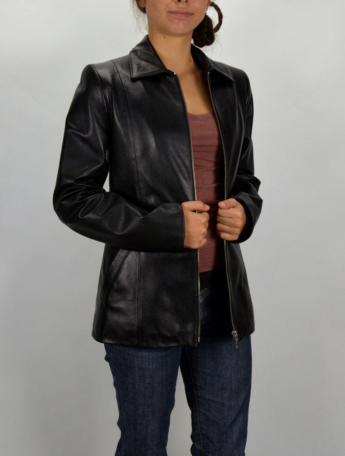 e5e49d233d ZITA női fekete bőrdzseki – Bőrkabát és bőrdzseki a gyártótól